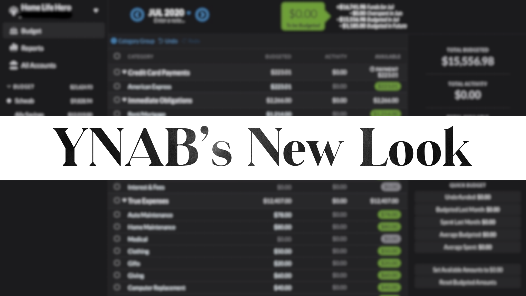 YNAB's New Look